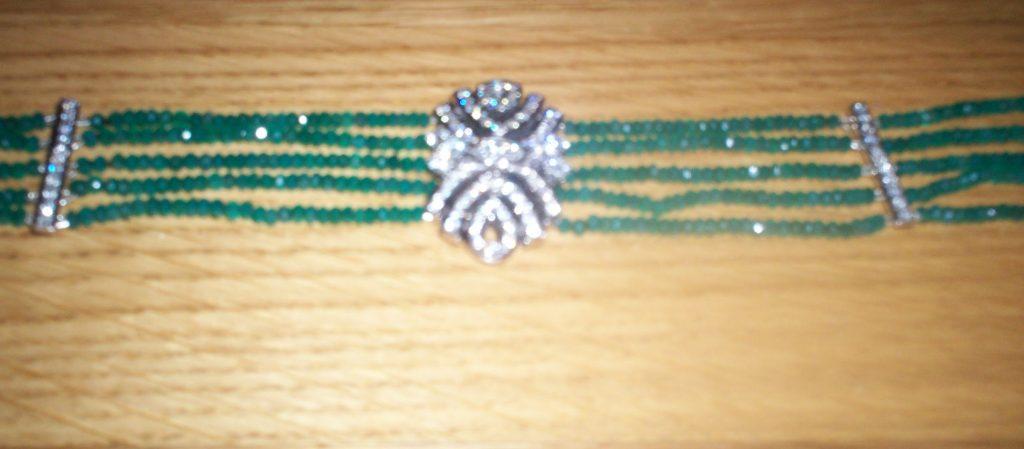 Emeralds, Diamonds and White Gold.
