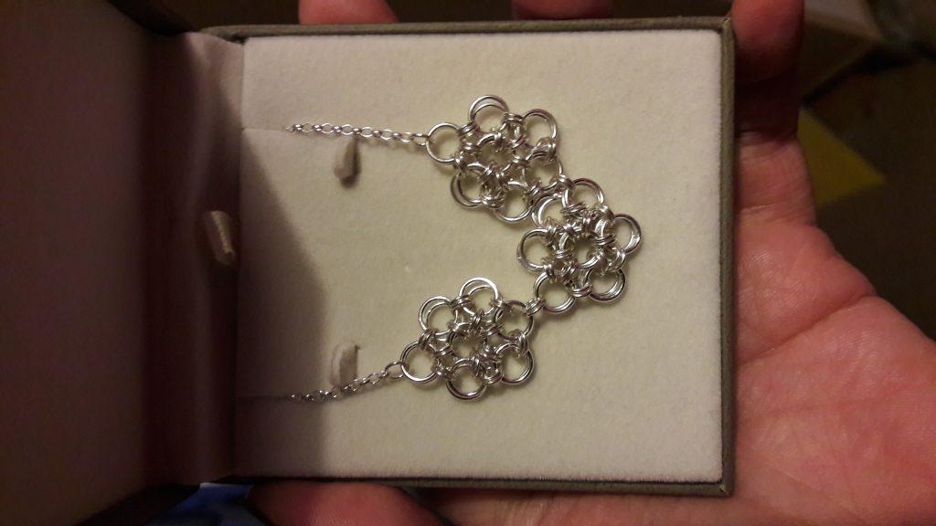 jump ring silver bracelet