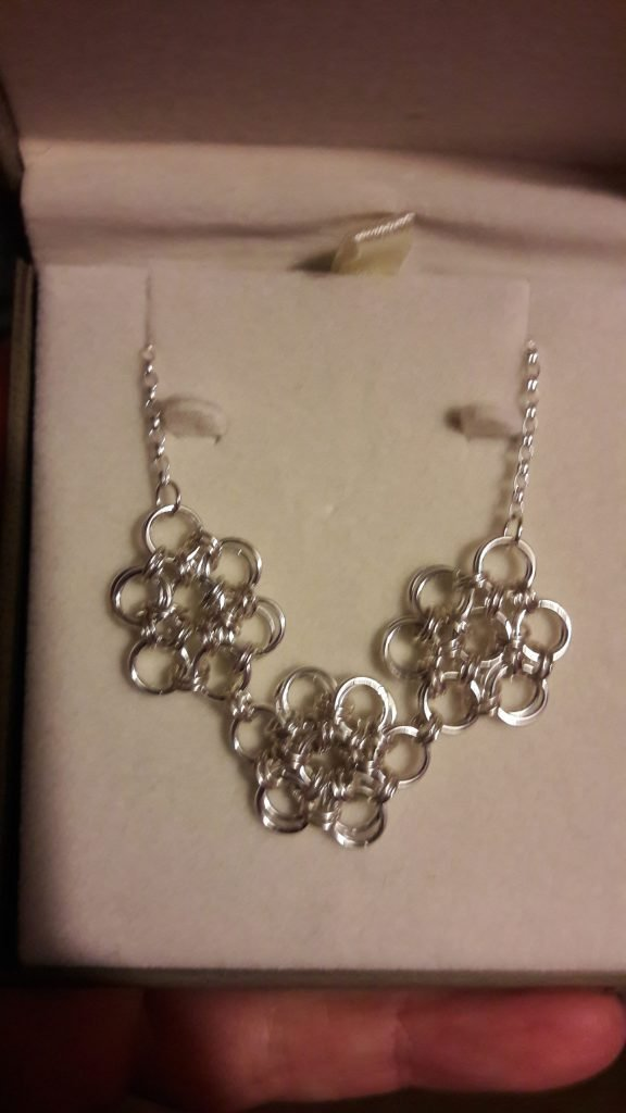 Jump Ring Silver Necklace