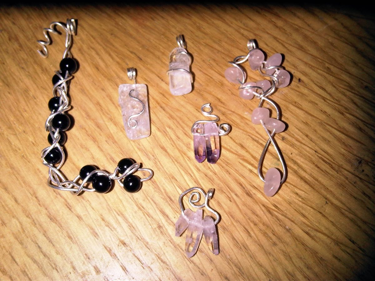 Silver, Onyx, Rose Quartz and Amethyst Jewellery