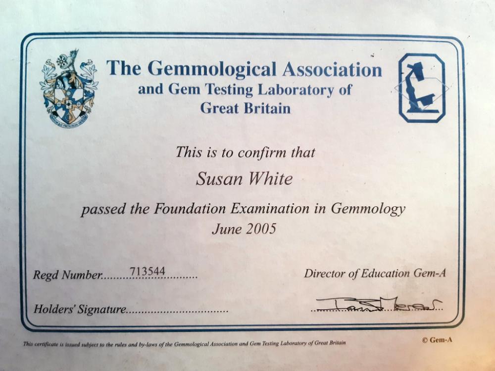 Gemmology Certificate